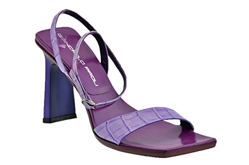 Giancarlo 3302 Ladies Sandals 90 Heel Violet Paoli New fUrwqfFO