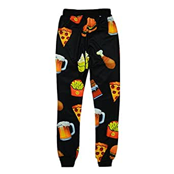 Cool joggers Ice Cream Emoji Sport sweatpants for men/women hip hop trousers (S)