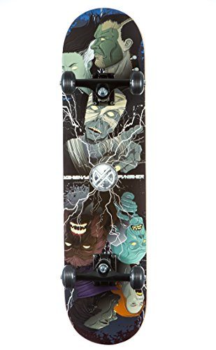 Punisher Skateboards MONSTER MASHUP Complete Skateboard with Convace Deck