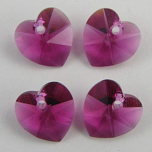 buyallstore 4 10mm Swarovski Crystal Heart Pendant 6202 ()