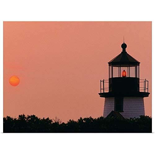 - GREATBIGCANVAS Poster Print Entitled Brant Point Lighthouse Nantucket MA by 16