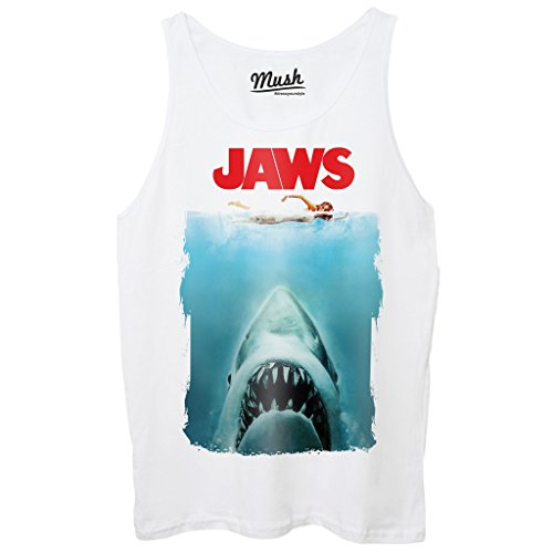 Canotta JAWS LO SQUALO POSTER - FILM by Mush Dress Your Style Bianca