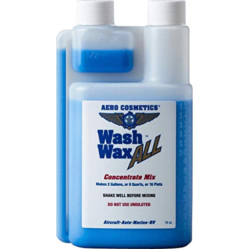 Aero Cosmetics Wet or Waterless Car Wash Wax Concentrate Gallon Aircraft Quality Wash Wax for Your Car RV & Boat. Guaranteed Best Waterless Wash on The Market 8 Ounce = 1 Gallon