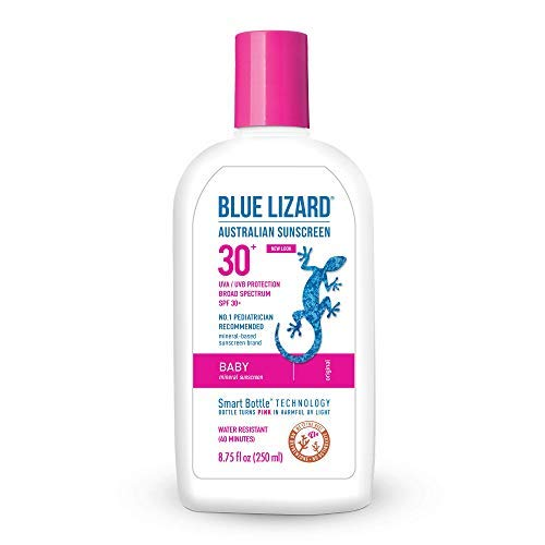 Blue Lizard Australian Sunscreen - Baby Sunscreen SPF 30+ Broad Spectrum UVA/UVB Protection - 8.75 Fl. Oz Bottle