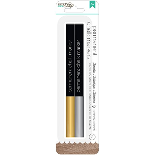 Silver Chalk - American Crafts DIY Chalk Markers Medium Point, Gold/Silver