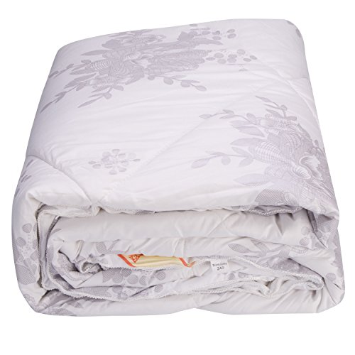 Alicemall Full Size Comforter Duvet Insert White Hypoallergenic Stain Cotton Printing Silky Hollow Fiber Filled Quilt, Twin/ XL Twin/ Full/ Queen/ King/ California King (Full) by Alicemall (Image #7)