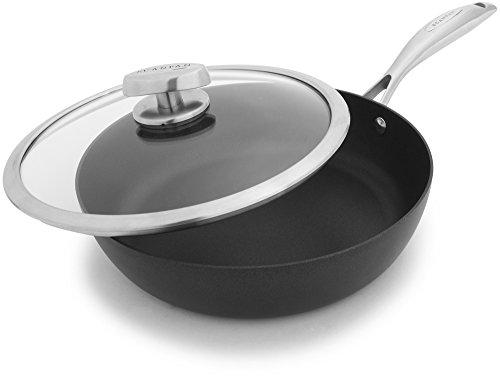 Scanpan PRO IQ Nonstick Covered Saute Pan, 2.75 quart, Black by Scanpan