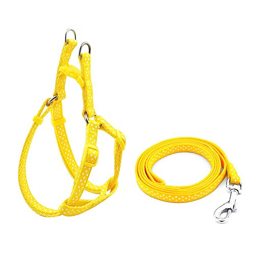 SMALLLEE LUCKY STORE Harness Adjustable X Small Yellow