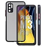 Jkobi Back Cover Case for Poco M3 Pro 5G (Camera Protection | Smoke Translucent | Thermoplastic | Black)
