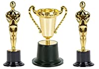 Oscars Award Winning Gold Trophy's (2 Styles Total of 24 Pieces)