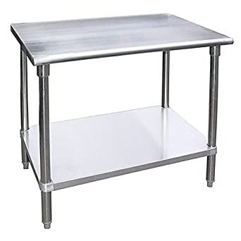 Amazoncom Stainless Steel Work Table Food Prep Worktable - 18 x 48 stainless steel work table
