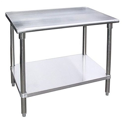 Work Table Food Prep Worktable Restaurant Supply Stainless Steel Height: 34''. All Sizes Are Available (36'' Long x 18'' Deep) by AmGood