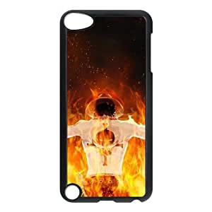Una sola pieza 6 funda iPod Touch 5 casos funda negra de la cubierta, funda de plástico caja del teléfono celular