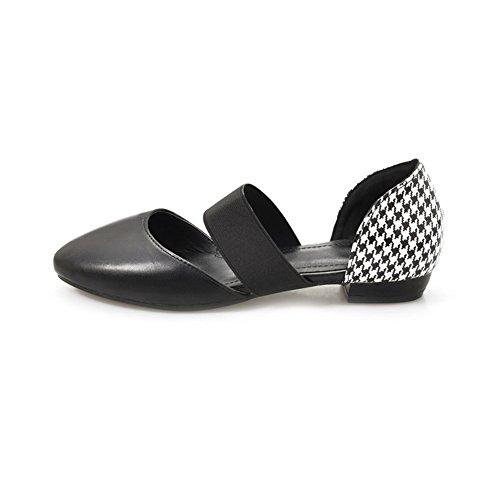 AdeeSu Womens Dress Cold Lining Solid Urethane Sandals SLC03735 Black UPD3Sv