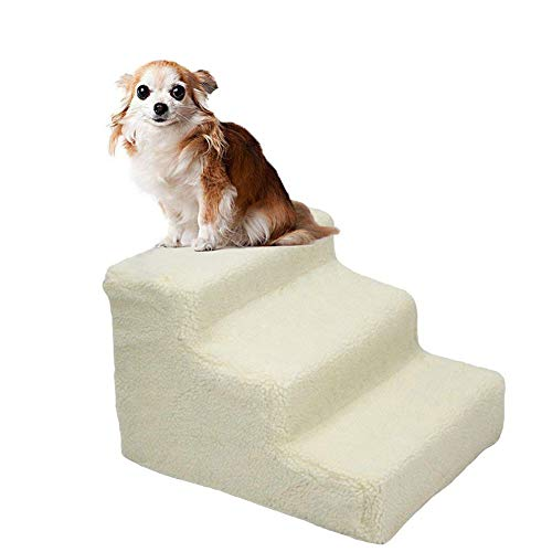 Three Step Pet Stairs (YOFIT Doggy Steps - Non-Slip 3 Steps Pet Stairs,Holds up to 70 lbs)