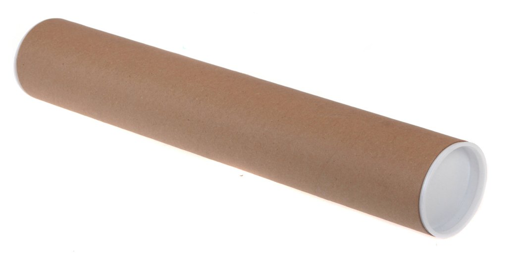 Large Cardboard Postal Tubes Large Diameter B0 - 1046mm L x 152mm. 10 Strong Thick Tubes for Packaging Documents & Artwork up to 1414x1000mm (55.7x39.4ins). White Plastic End Caps for All-Round Protection in Transit & Storage. Reusable & Recyclable