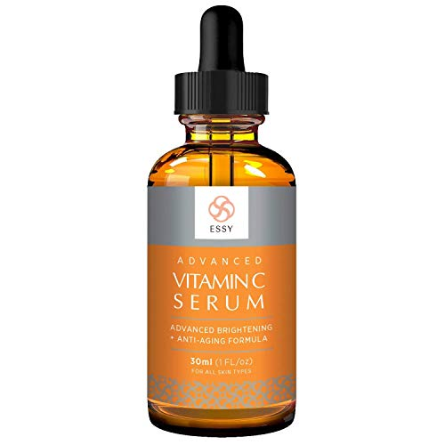 Essy Advanced Facial Vitamin C Serum With Hyaluronic Acid - Natural Antioxidant For Fine Lines, Organic Anti-Aging Moisturizer Serum For Face and ()