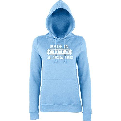 Daataadirect - Sudadera con capucha - para mujer azul celeste