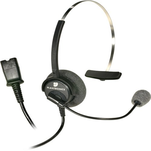 (Plantronics H51n Corded Office Headset With Noise Canceling Mic (Renewed))