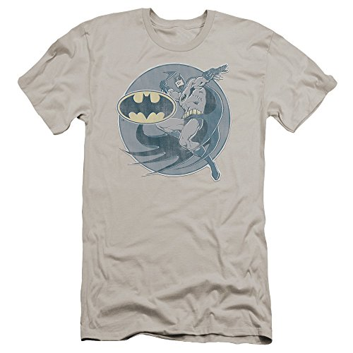 Batman+Retro+Shirts Products : Dco Retro Batman Iron On Mens Premium Slim Fit Shirt