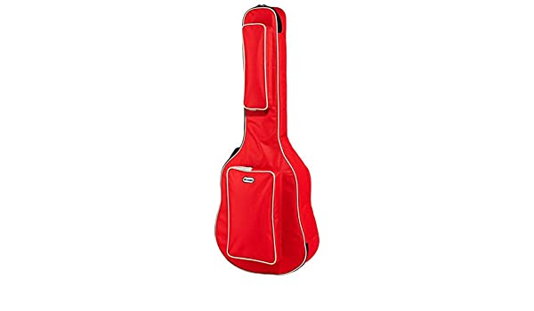Bolsa de guitarra acústica de sillón, color rojo: Amazon.es ...