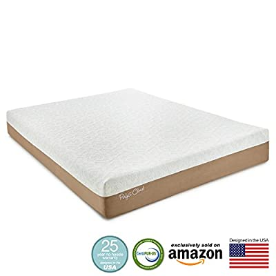 Memory Foam Mattress - Atlas Gel-Plus 10-inch by Perfect Cloud - Amazon Exclusive Model Featuring New Gel Cool Visco - 10 Year Hassle-Free Warranty