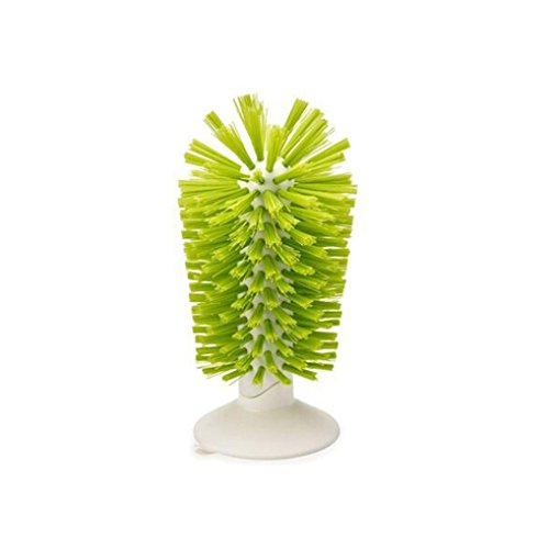 XEDUO New Sink Suction Cup Base Cleaning Bottle Glass Brush Wine cup brush (Green)