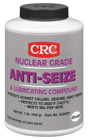 Anti-Seize, 16 oz, Nuclear, Brush Top by Crc Industries Inc