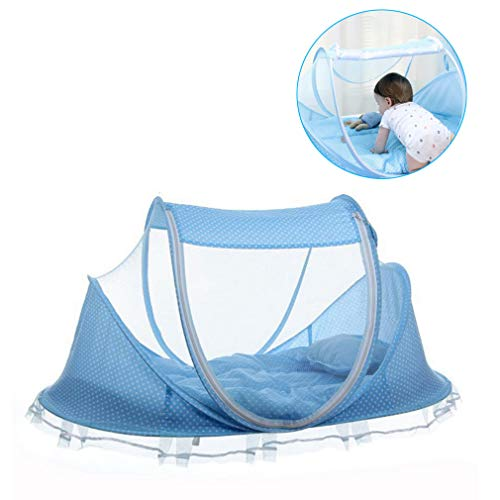 (Bersun Travel Crib ,Baby Tent, Baby Bed ,Instant Pop Up Portable Baby Travel Bed With Mosquito Net With Pad)