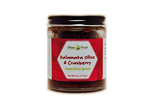 Olive Fruit - The Perfect Sweet Olive Spread For Breakfast, Lunch & Dinner (Kalamata Olive & Cranberry) (Olives Kalamata Gourmet)
