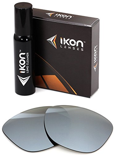 Polarized Ikon Iridium Replacement Lenses for Oakley Frogskins LX Sunglasses - Silver Chrome - Lenses Iridium Chrome Oakley Polarized