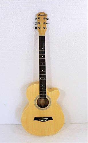 38'' Cutaway Acoustic Steel String Guitar, Matt Natural Finish by Harmonia