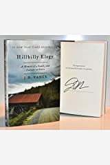 Hillbilly Elegy AUTOGRAPHED by J.D. Vance (SIGNED EDITION) Hardcover