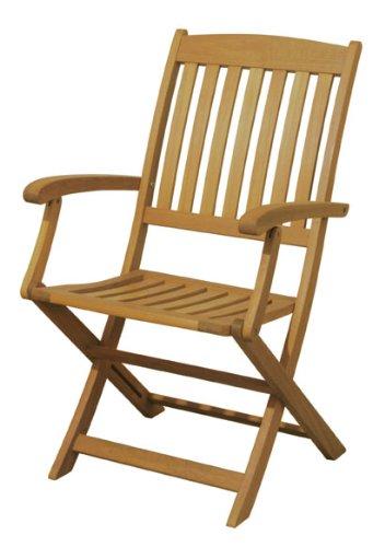 Arboria Outdoor Folding Chairs With Armrest Premium Hardwood
