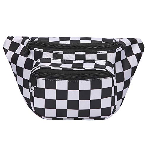 2e2fabb5d7a HDE Fanny Pack  80 s Style  Waist Pack Outdoor Travel Crossbody Hip Bag ( Black