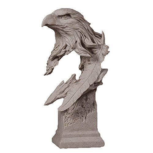 WY-BUILD Ornamento Escritorio - Resina Escultura - Estatuilla de águila - Esculturas abstractas - Decoración contemporánea para el hogar y la Oficina - Adecuado para el liderazgo por WY-BUILD