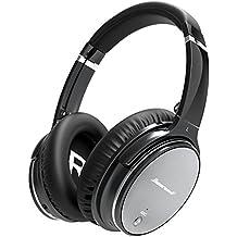 [Patrocinado] hiearcool L1Active cancelación de ruido auriculares bluetooth Hi-Fi estéreo inalámbrico Auriculares de diadema con micrófono y Control de Volumen Para Todos 3.5mm Jack & dispositivos Bluetooth–Hierro Gris Gris hierro