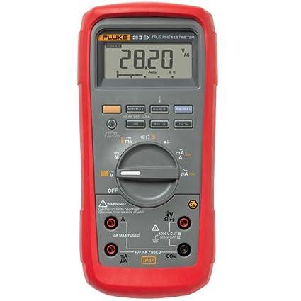 Fluke 28IIEX/ETL Intrinsically Safe True-Rms Digital Multimeter, LCD  Display, -200 to +1090 Degrees C Temperature Range, 7 8