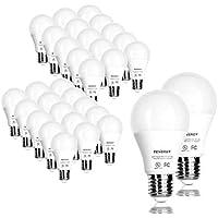 32 Pack Tenergy 9W A19 (60W Equivalent) LED Bulbs (Daylight Wgite/Soft White)