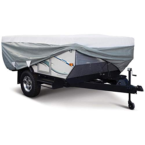 Classic Accessories OverDrive PolyPro 3 Deluxe Folding Camping Trailer Cover, Fits 8' - 10' Trailers