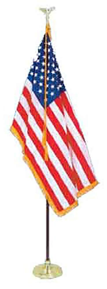 All Star Flags 8' Presidential Formal Indoor U.S. Flag Set with 8' Pole, Stand and Eagle Ornament for Offices, Schools, Churches & Auditoriums