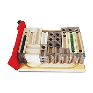 Tedco Wooden Block Amp Marble Master Set Age 4 Marble