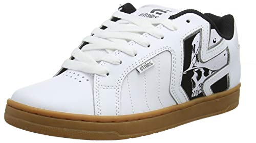Etnies Men's Metal Mulisha Fader 2 Skate Shoe White/Black/Gum 10.5 Medium US
