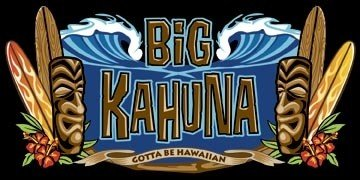 Hawaiian Beach Towel - Big Kahuna Tiki and Surfboard Design ()