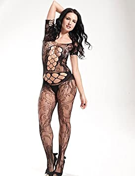 bcbc0dc44 ANDP Women Black Conjoined Tight Perspective Mesh Sexy Suspenders Fishnets  Temptation Stockings Lingerie