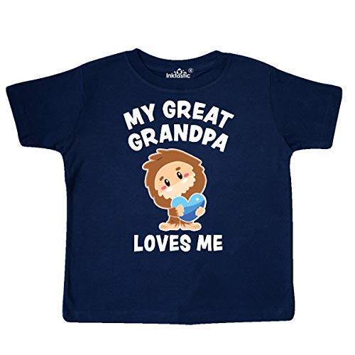 inktastic - Cute Bigfoot My Great Grandpa Toddler T-Shirt 3T Navy Blue 3671c