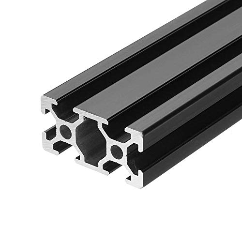 1000mm Length Black Anodized 2040 T-Slot Aluminum Profiles Extrusion Frame for - Linear Motion Aluminum Profiles- 1 x 1000mm black anodized 2040 aluminum profiles