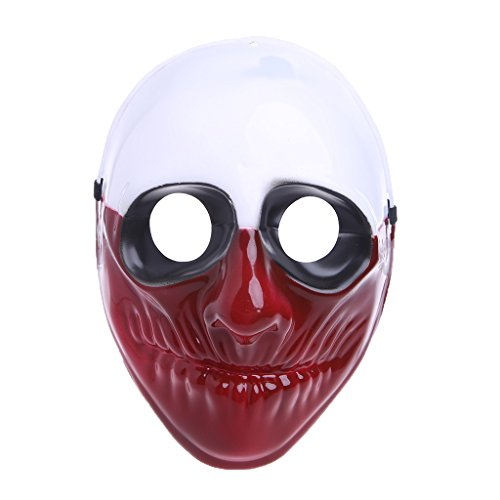 Endless PAYDAY 2 Full Head Latex Mask Halloween Costume Props Collection Game Cosplay Horror Mask (Wolf)