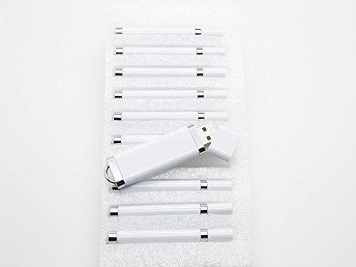 10 32 GB Flash Drive - Bulk Pack - USB 2.0 32GB Snapcap Design in White