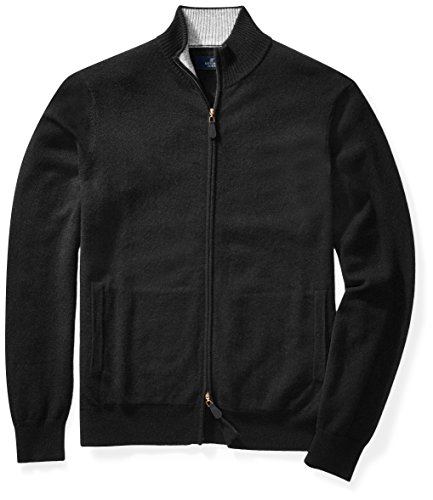 BUTTONED DOWN Mens Cashmere Full-Zip Sweater